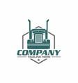 trailer truck logo vector image vector image