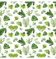 tropical seamless pattern jungle exotic leaves vector image vector image
