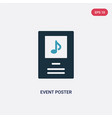 two color event poster icon from music concept vector image