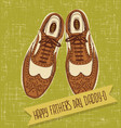 vintage spectator shoes fathers day vector image