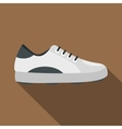 White golf shoe icon flat style vector image vector image