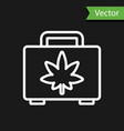 white line shopping box medical marijuana or vector image vector image
