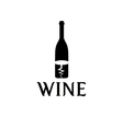 wine bottle and corkscrew design template vector image vector image