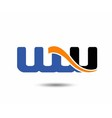 WW initial company group logo vector image vector image