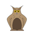 brown owl on white background vector image