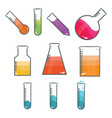 lab tubes vector image