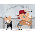 athletes struggle in the ring vector image