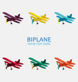 biplane in color monochrome vector image