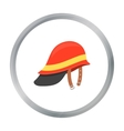 Firefighter Helmet icon cartoon Single silhouette vector image