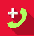 911 emergency call emergency ambulance phone with vector image vector image