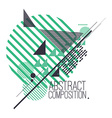 Abstract composition with simple geometric figures vector image