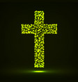 abstract cross of glowing particles vector image vector image
