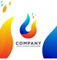 abstract modern fire logo vector image
