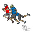 american football players tackling vector image vector image