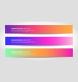 banners with abstract background colorful vector image vector image