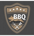 BBQ emblem design vector image vector image
