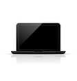 Black laptop vector image vector image