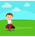 Boy on playground vector image vector image