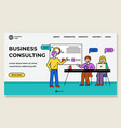 business consulting conference people in office vector image vector image