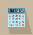 calculator with numbers long shadow vector image vector image