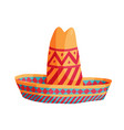 cartoon mexican sombrero vector image vector image