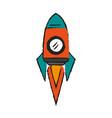 cartoon spacecraft ship vector image vector image