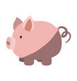colorful silhouette of piggy bank with half shadow vector image