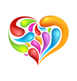 Colourful abstrak icon of heart vector image vector image