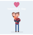 couple in love man and woman embracing each other vector image vector image