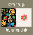 cover design with polka dots pattern vector image