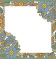 doodle flower frame vector image vector image