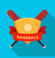 emblem baseball single icon in flat style vector image vector image