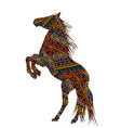 ethnic motifs patterned bucking horse vector image