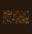 ev charging station outline golden vector image vector image