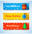 festive winter horizontal banners vector image