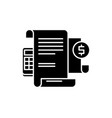 financial instructions black icon sign on vector image