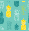 fresh blue green yellow pineapples repeat vector image vector image