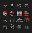 graphic ratings and charts set vector image vector image