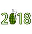 grenade 2018 lettering vector image vector image