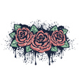 Grunge Roses with Splatters2 vector image