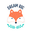 hand drawing a clever fox vector image vector image