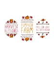 Hand drawn autumn elements with inscription vector image vector image