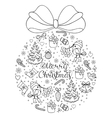 hand drawn christmas pattern vector image vector image