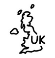 hand-drawn map of great britain vector image vector image