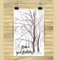hand drawn tree isolated on white background vector image vector image