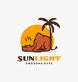 logo sun light simple mascot style vector image vector image