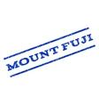 Mount Fuji Watermark Stamp vector image vector image