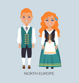 north europe people customs vector image vector image