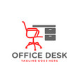 office chair table furniture logo vector image