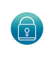office padlock security protection supply block vector image